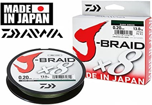 Daiwa J-BraidX8 fonott zsinór, 150m, sötétzöld 12751-0**